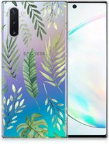 Back Case Samsung Note 10 TPU Siliconen Hoesje Leaves