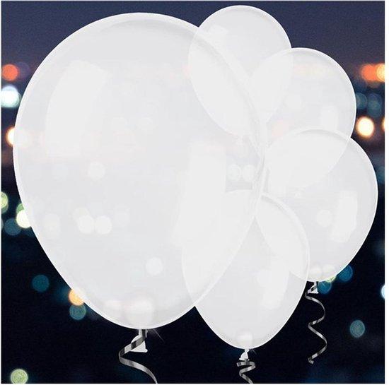 Ballonnen LED Wit - 5 stuks