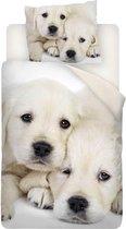 Snoozing Puppy Love Dekbedovertrek - Eenpersoons - 140x200/220 cm + 1 kussensloop 60x70 cm - Multi kleur
