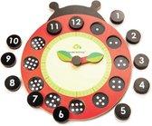 Tender Toys Puzzelklok Lieveheersbeestje Hout Junior 22 X 26 Cm