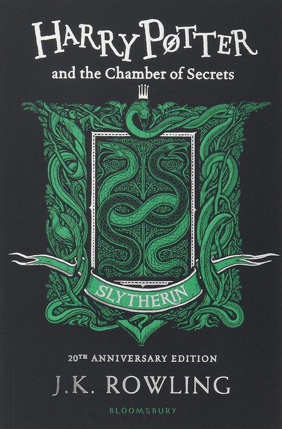 Boek cover Harry Potter and the Chamber of Secrets - Slytherin Edition van J.K. Rowling (Paperback)