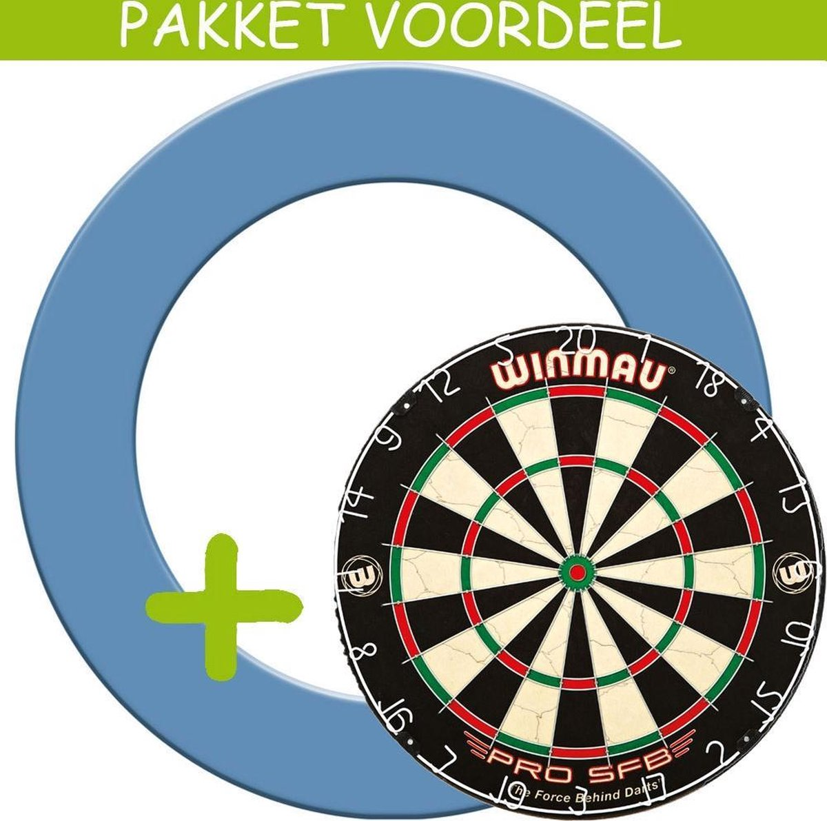 Dartbord Surround VoordeelPakket - Pro SFB - Rubberen Surround-- (Aqua)