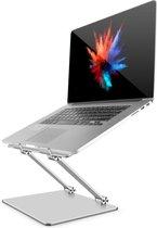 Trendfield Laptop Standaard - Luxe Ergonomische Laptophouder 10 - 18 Inch - Verhoger - Laptopstandaard - In Hoogte Verstelbaar - Aluminium - Zilver