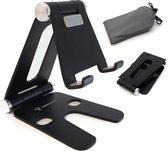 Trendfield Tablet & Telefoon Houder Opvouwbaar - Inklapbare Standaard voor Tafel of Bureau TTH105 - Zwart