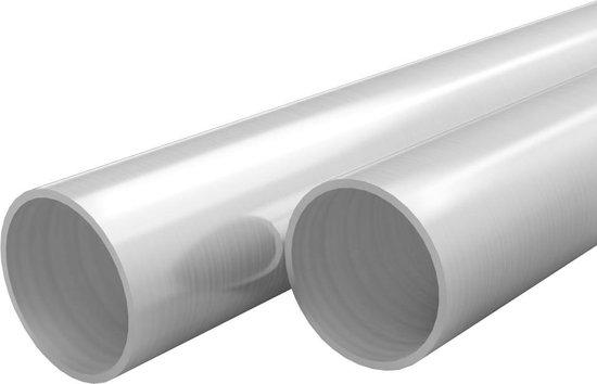vidaXL Buizen rond V2A 2m Ø60x1,9mm roestvrij staal 2 st  VDXL_143196