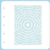 COLST010 Nellie Snellen - Magnetic Stencil - A6 mixed media sjabloon - Colour Set - burst - uitbarsting