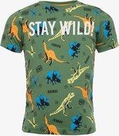TwoDay jongens T-shirt met dino print - Groen