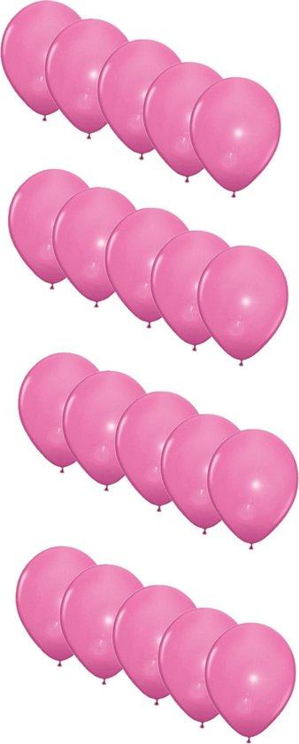 20x stuks Led lampjes/licht ballonnen lichtroze 27 cm - Feestartikelen/versiering