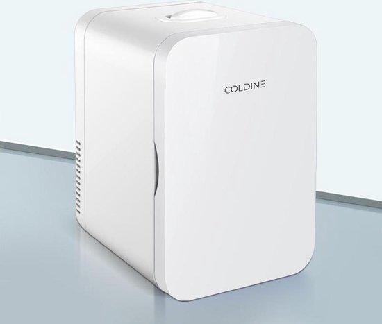 Mini koelkast: Coldine Mini koelkast 6L - Wit - Geschikt voor auto/camper/vrachtwagen met 12v en 220v stekkers, van het merk COLDINE