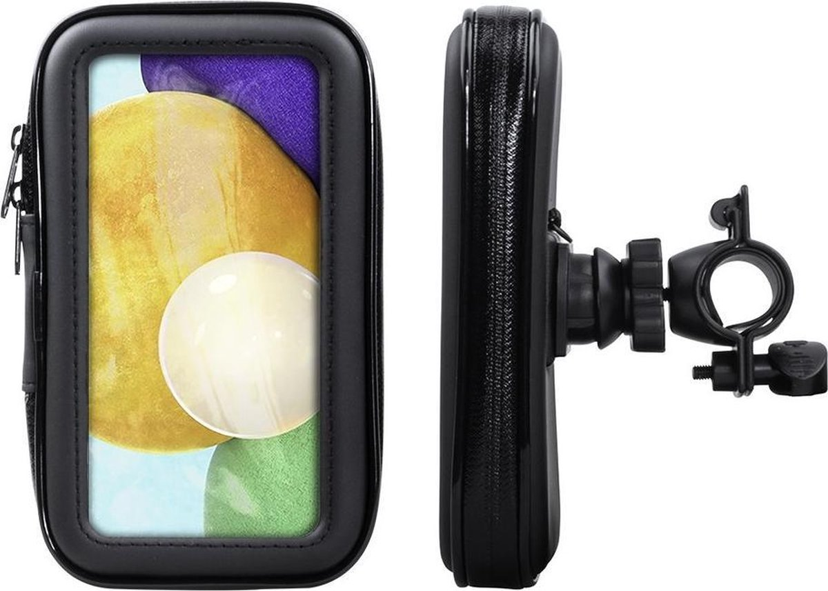 Shop4 – Samsung Galaxy A52 Fietshouder Stuur Spatwaterdicht Zwart