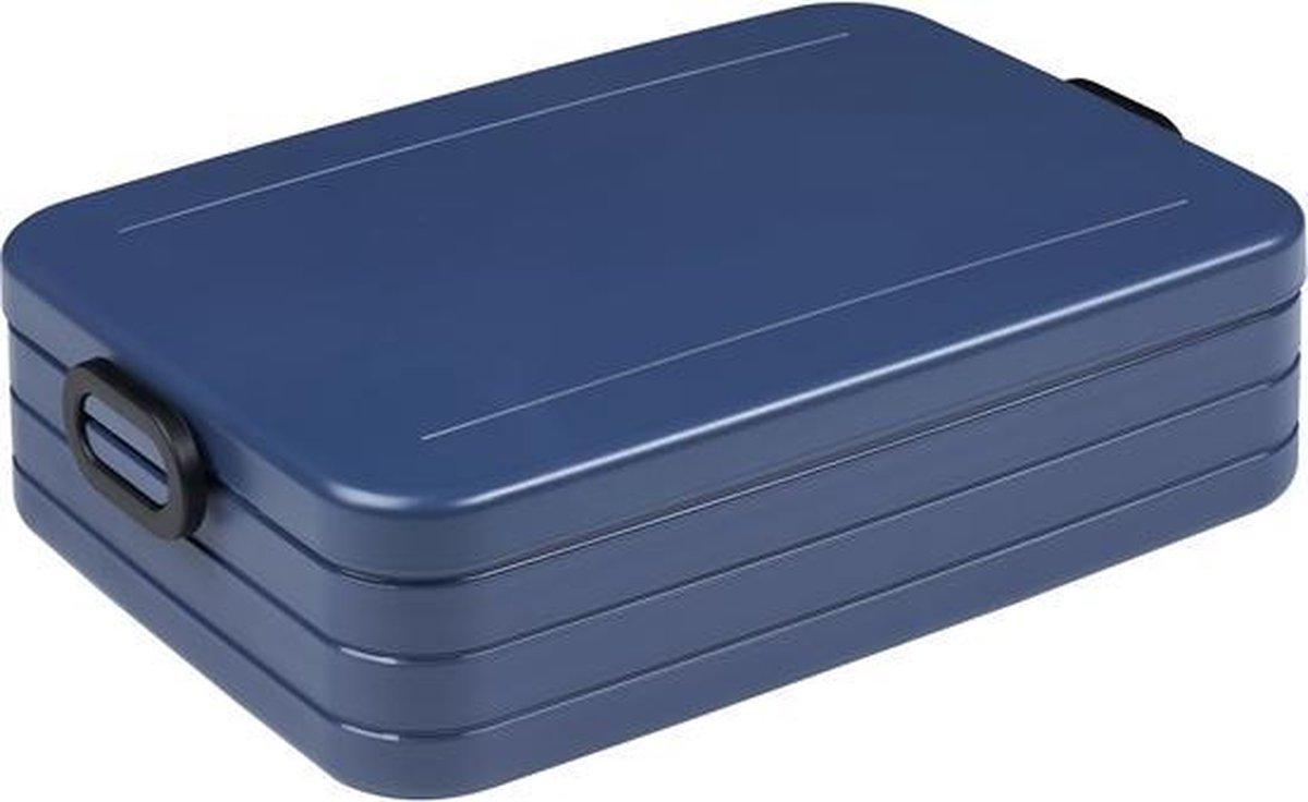 Mepal – Lunchbox Take a Break large – Geschikt voor 8 boterhammen – Nordic denim – Lunchbox voor vol