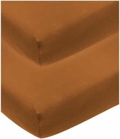 Meyco jersey hoeslaken - 2-pack - 60x120 cm - camel