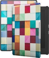 Lunso - sleepcover hoes - Kobo Aura H20 edition 1 (6.8 inch) - Blokken