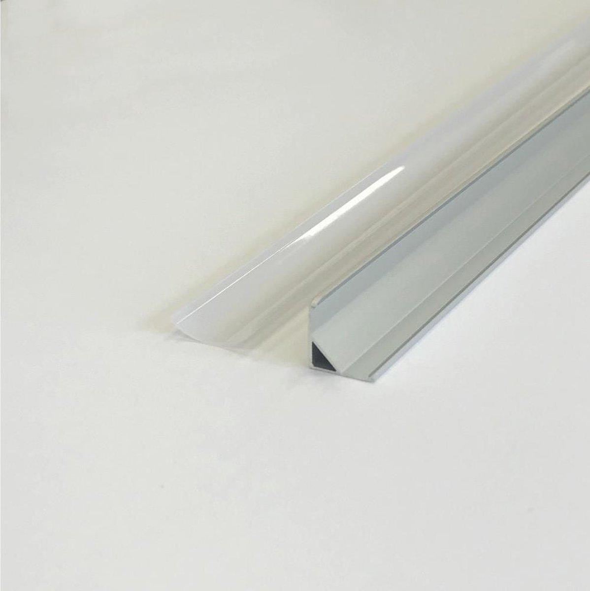 Aluminium profiel met hoek van 1 m voor ondoorzichtige witte LED-strip