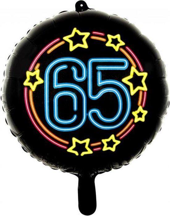 Wefiesta Folieballon 65 Neon 45 Cm Zwart