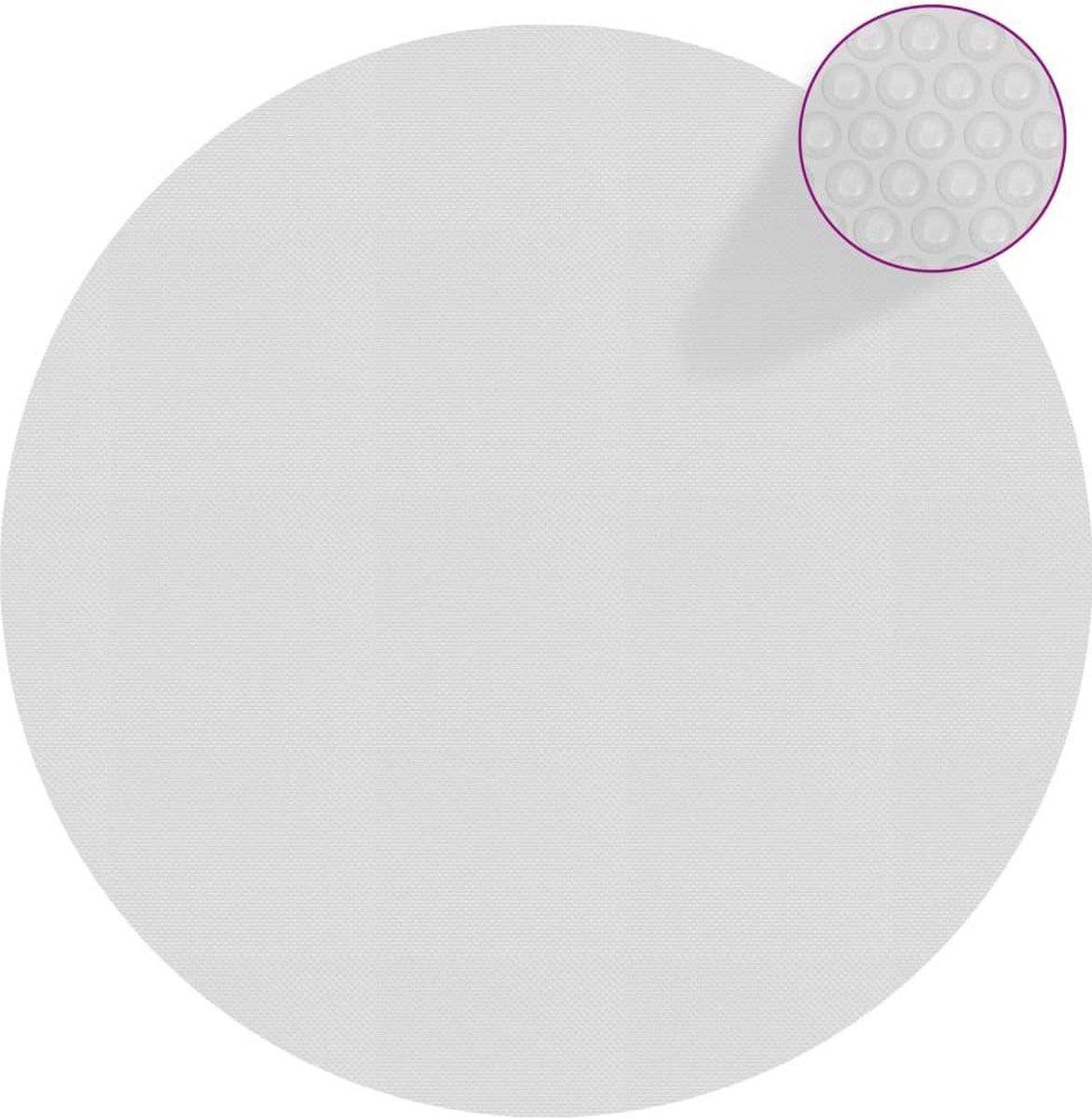 vidaXL Zwembadfolie solar drijvend 381 cm PE grijs