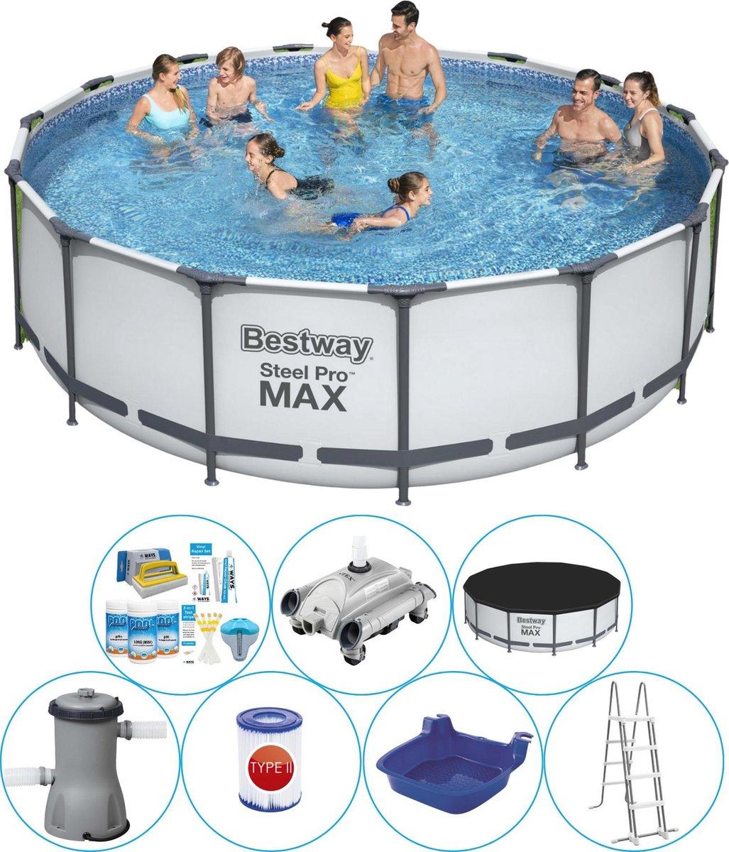 Bestway Steel Pro MAX Rond 457x122 cm - Zwembad Combinatie Set
