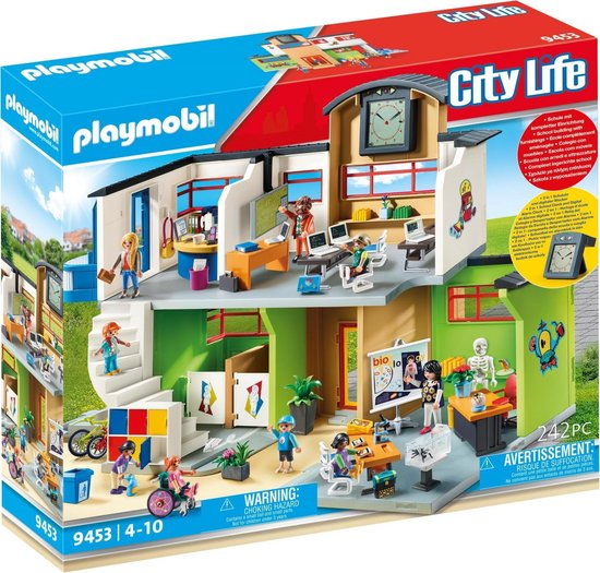 PLAYMOBIL City Life Ingerichte school - 9453