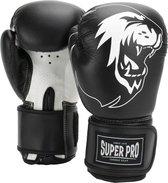 Super Pro Combat Gear Talent (kick)bokshandschoenen Zwart/Wit 10oz