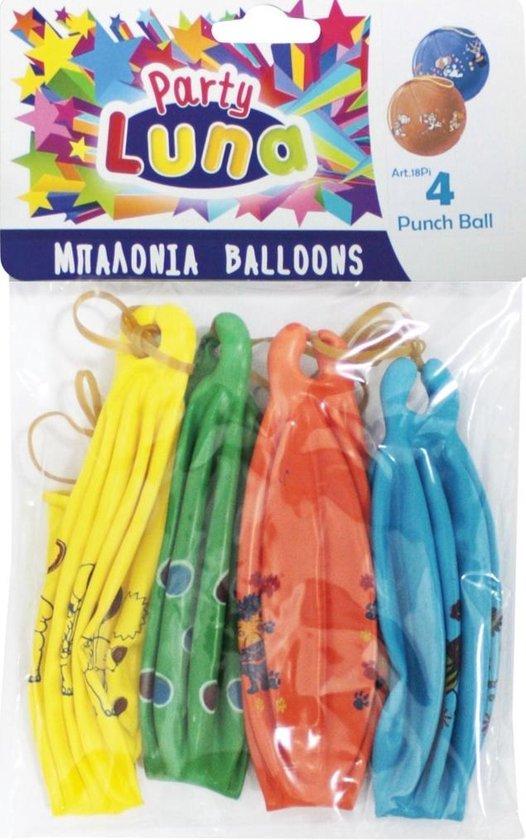 Party Luna Ballonnen Punch 30 X 30 Cm Latex 4-delig