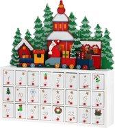 Trend24 - - Kerst Adventskalender 2020 - Winter landschap - Adventskalender Hout - 42 x 38 x 8 cm - Kerst 2020