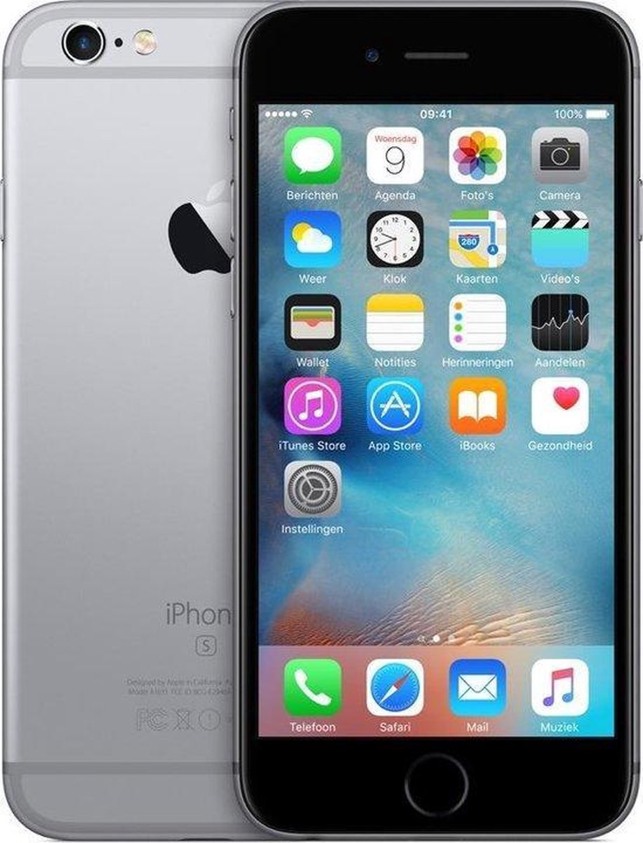 Apple iPhone 6s - Refurbished door Mr.@ - A grade (Zo goed als nieuw) - 64GB - Spacegrijs