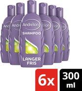Andrélon Classic Langer Fris Shampoo - 6 x 300 ml - Voordeelverpakking