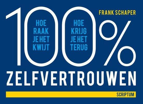 Cover van het boek '100% zelfvertrouwen' van Frank Schaper