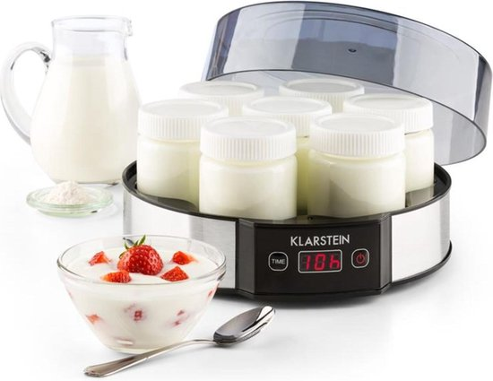 Melkweg yoghurtmaker 7x190 ml glas timer 14h rvs
