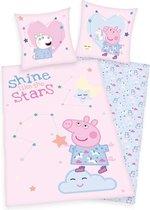 Peppa Pig Dekbedovertrek Shine Stars - 140x200cm