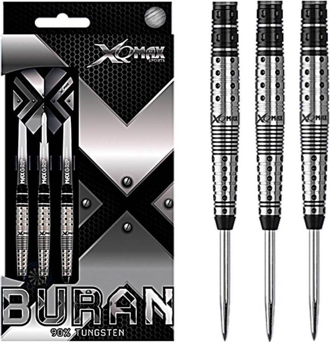 XQ Max - Buran - darts - 25 gram - dartpijlen - 90% tungsten - steeltip