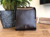 ESMAY SALDA - Handgemaakte tas van Vegan Leer, 2-in-1 Handtas & Rugtas (Dark Coffee)