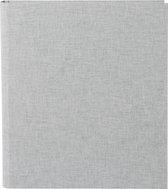 GOLDBUCH GOL-37919 Linum A4 ringband grijs linnen, 4 rings