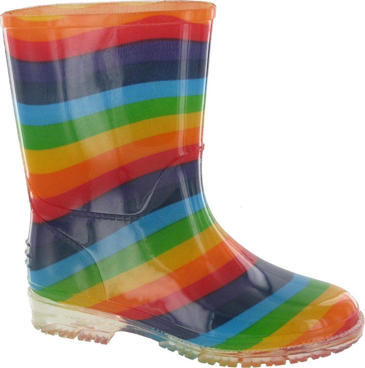 Cotswold PVC Kids Rainbow Welly / Meisjeslaarzen (Multi)
