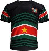 Suriname Techno Style Voetbal T-Shirt Zwart