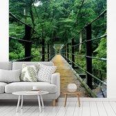 Brug tussen de bossen van het Yakushima eiland in Japan fotobehang vinyl breedte 260 cm x hoogte 260 cm - Foto print op behang (in 7 formaten beschikbaar)