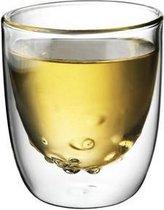 QDO Elements - Koffie- en theeglazen - Set van 2 Dubbelwandige Glazen - Water - 75ml