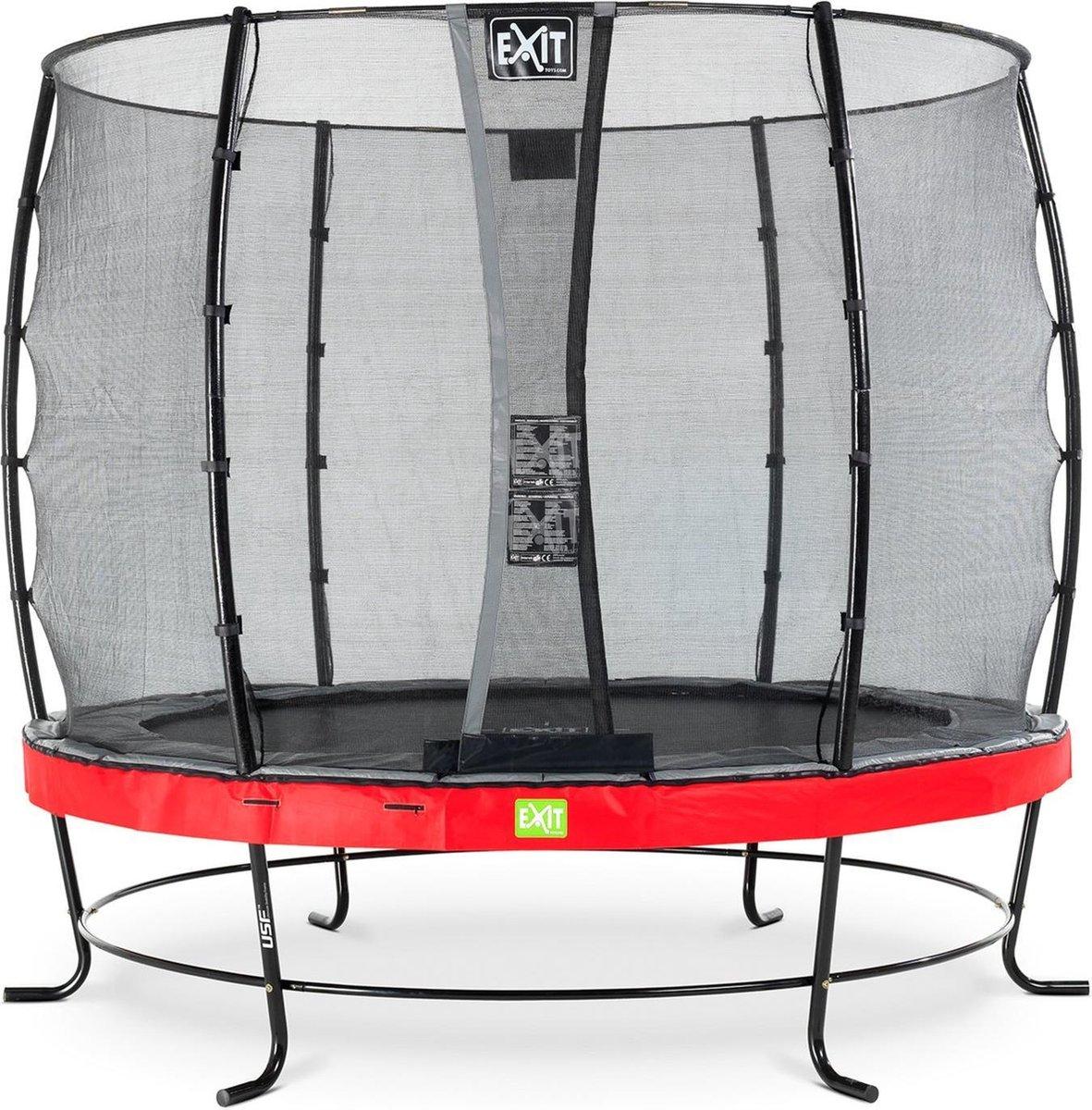 Trampoline EXIT Elegant - ø251cm met veiligheidsnet Economy - rood