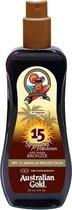 Australian Gold SPF 15 Spray Gel Zonnebrand met Bronzer - 237 ml