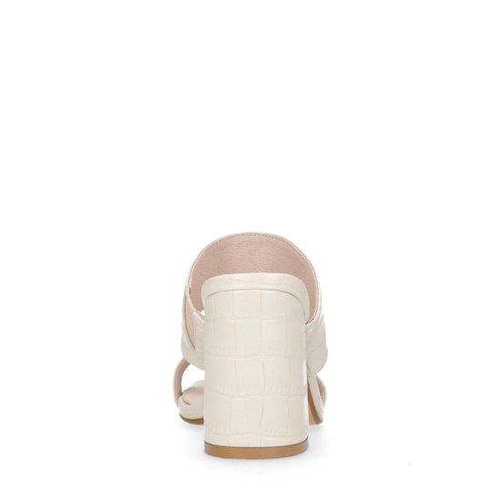 Sacha - Dames Latte Crocoprint Muiltjes Maat 39
