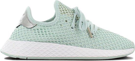 adidas Originals DEERUPT W Dames Sneakers Sportschoenen Schoenen Groen  B37680 - Maat EU 36 2/3 UK 4