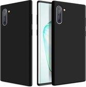 Shieldcase Silicone case Samsung Galaxy Note 10 (zwart) + glazen screen protector