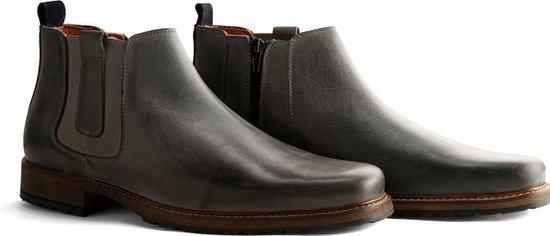 Travelin London Chelsea - Nette Leren Chelsea Boots - Heren - Lichtgrijs - Maat 42
