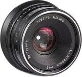 7Artisans - Cameralens - 25mm F1.8 APS-C voor Canon EOS-M, zwart + Gratis UV-filter & metalen zonnekap