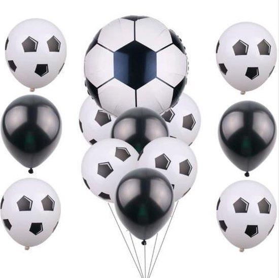 Voetbal ballonnen set 13 stuks!| 12 stuks + 1 grote ballon | Voetbal ballon| Zwart Wit | Verjaardag of kinderfeest