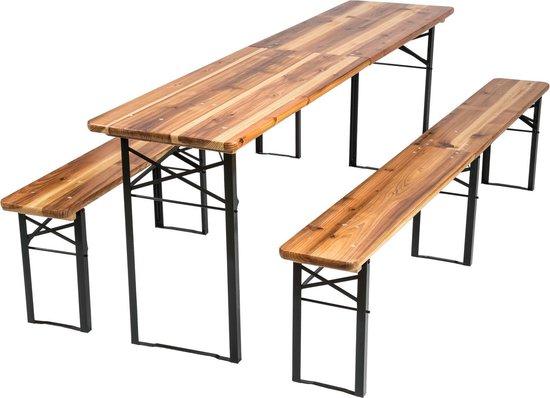 TecTake - Biertafel met banken, campingtafel, opklapbaar