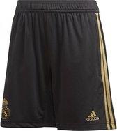 adidas Real Madrid Woven Short Junior  Sportbroek - Maat 140  - Unisex - zwart/goud