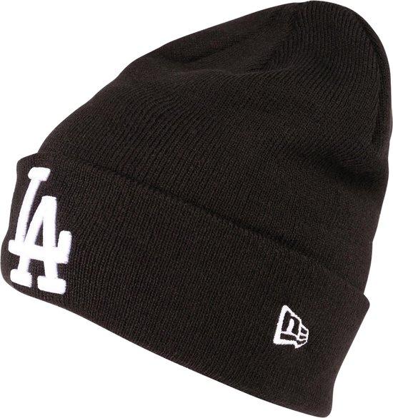New Era Beanie / Muts Los Angeles Dodgers Essential Black Cuff Knit zwart