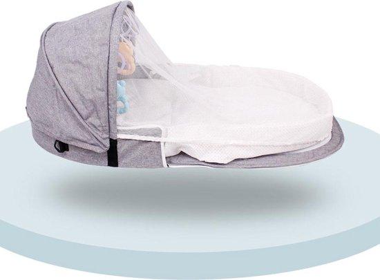 Product: Decopatent® Baby Bed - Travel Reisbed - Opvouwbaar Reisbedje met matras - Baby's - Kleuters - Reiswieg - Camping Babybedje - Grijs, van het merk Decopatent