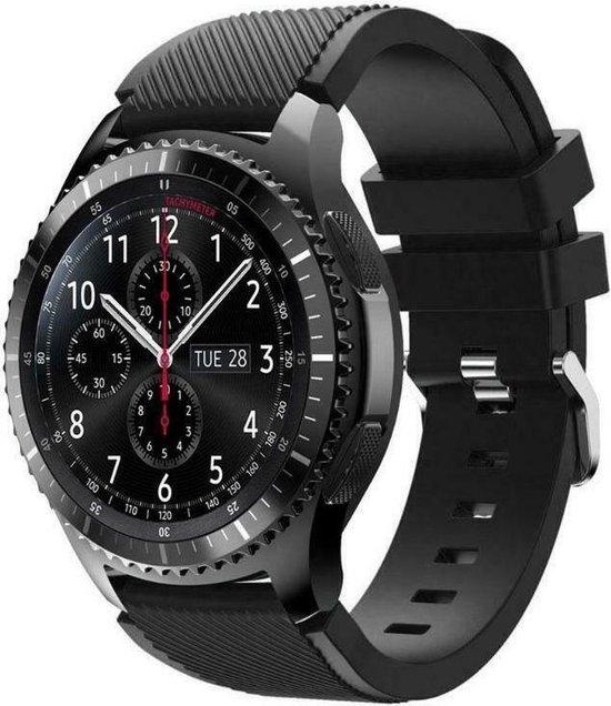 Samsung Galaxy Watch siliconen bandje 45mm / 46mm - zwart